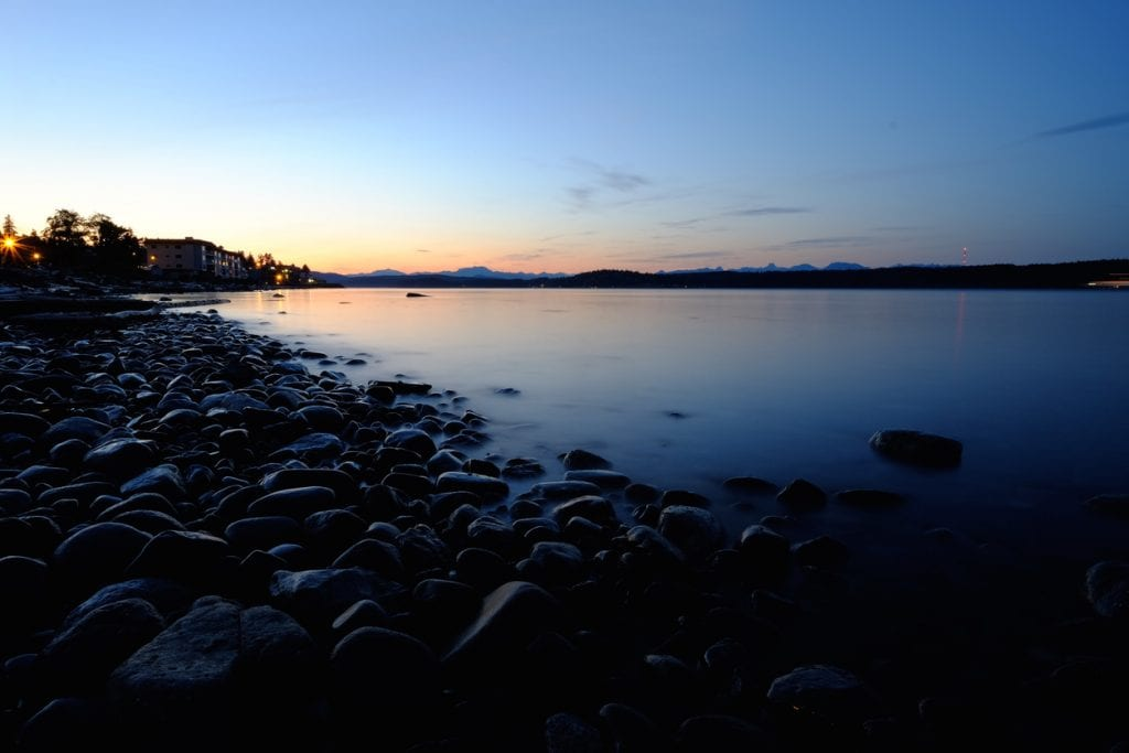 Sunset Quadra Island Shore